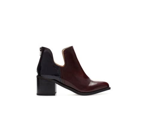 zara boots zara combination cut out ankle boot in multicolour