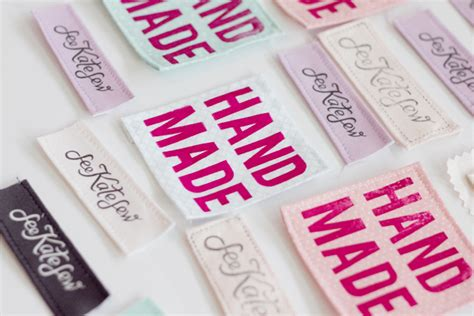 Handmade Sewing Labels - 4 ways to make your own clothing labels with hpx360 see