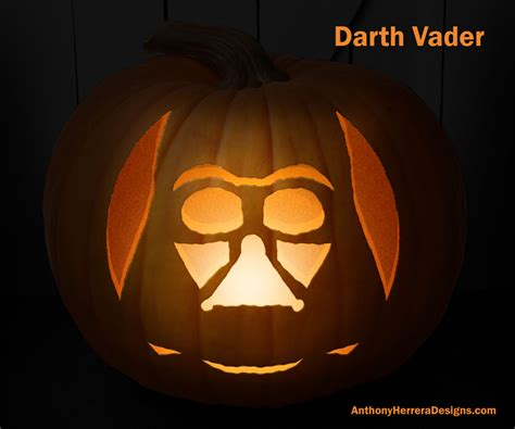 print and carve out star wars pumpkins darth vader
