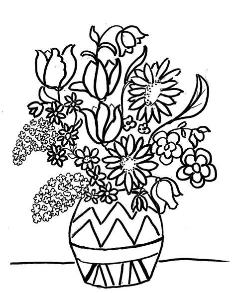 immagini di vasi con fiori disegni di vasi