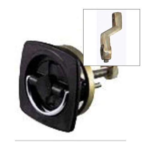 perko non locking flush latch chrome black with offset