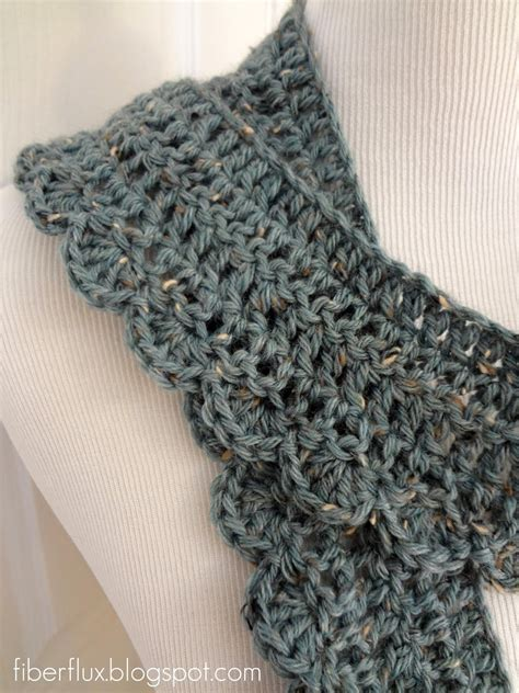 fiber flux free crochet pattern air scarf