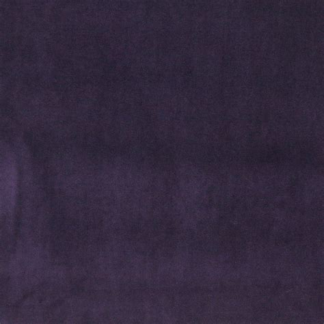 Purple Authentic Cotton Velvet Upholstery Fabric By The Yard
