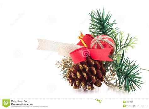 decorated pine cone stock image image 7234851
