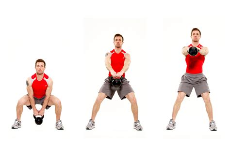 kettle ball swings squat press with kettlebell images