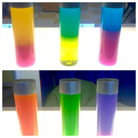 how to make a color mixing sensory bottle preschool inspirations color mixing sensory bottles oil and water in voss water