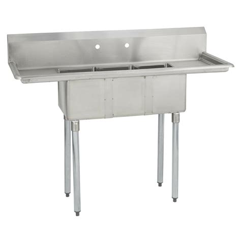 Stainless Steel Commercial Sinks by 3 Three Compartment Commercial Stainless Steel Sink 54 X