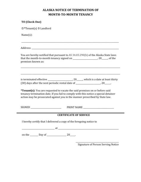 Sle Letter Termination Of Month To Month Lease month to month lease termination letter template