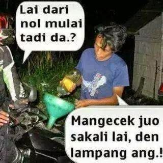 gambar dp bbm lucu bahasa minang kabau padang