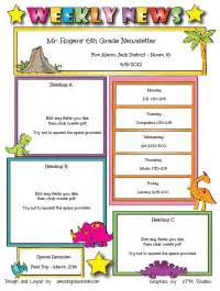 templates for the classroom custom classroom newsletter printable sle home