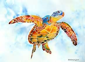 turtles painting sea turtle gentle by jo lynch