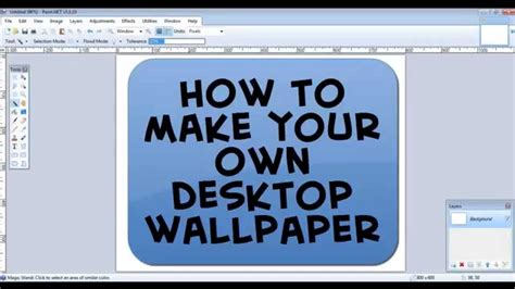 make your own wallpaper for your pc how to make your own pc wallpaper on paint net youtube