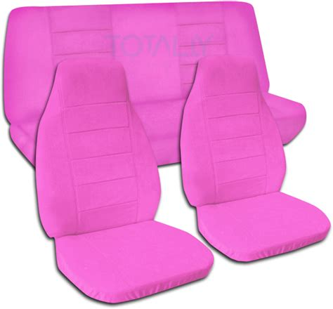 Seat Covers Car Pink Solid Color Car Seat Covers Set Semi Custom Black