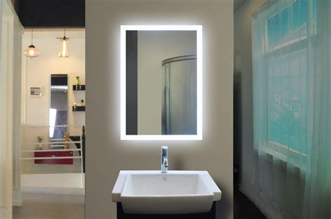 backlit bathroom vanity mirrors led backlit bathroom mirror 20 x 28 in the light house