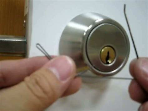 How To Lockpick A Door by How To A Deadbolt Door Lock With Bobby Pins