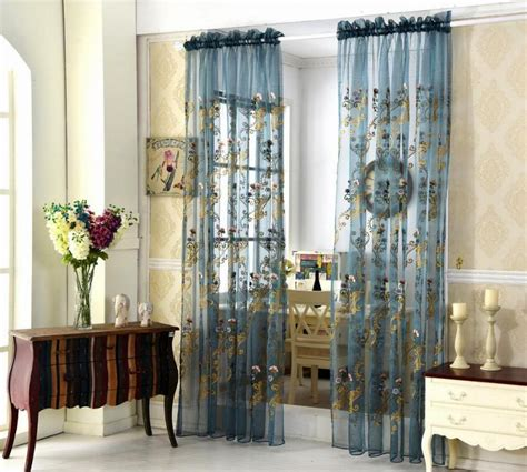 fashion embroidery window curtains  living room luxury tulle window modern sheer cortinas