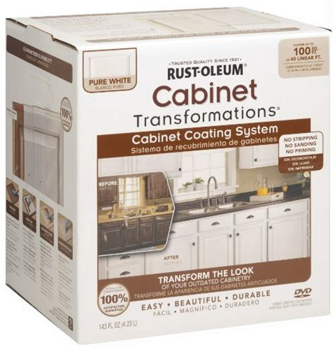 rustoleum kitchen cabinet transformation kit rust oleum 263232 cabinet transformations small kit pure