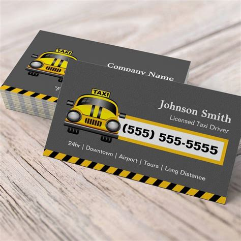 business card template for taxi driver taxi driver chauffeur yellow cap zazzle
