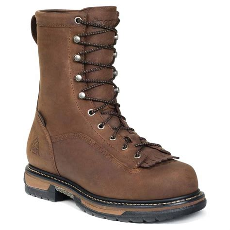 rocky fq0005698 mens brown leather ironclad waterproof