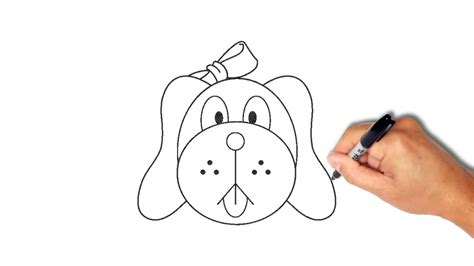 How to draw a dog face step by step [very simple] - YouTube Easy Dog Face Drawing