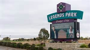 legends park in dodge city ks luminous neon sign