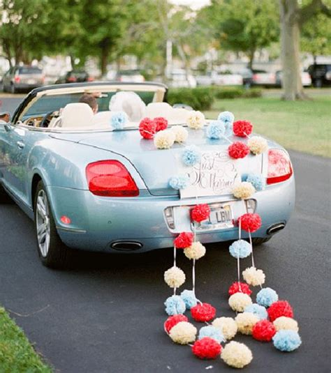 decoracion coche boda ideas para la decoracion coche de boda