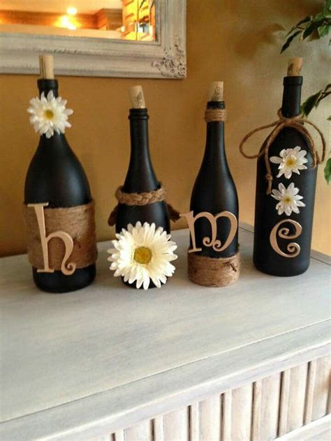 wine bottle crafts wine bottle craft diy home decor wine