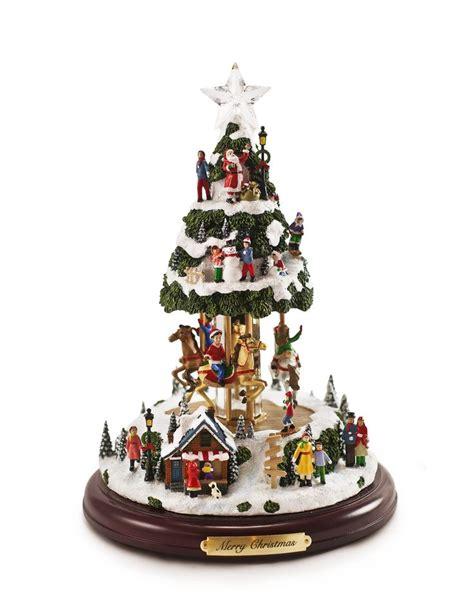 animated musical christmas tree trees miniature and plays