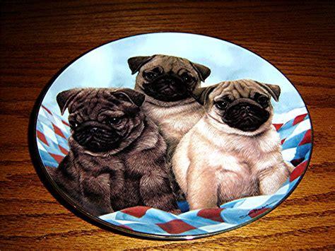 pug plates three pugs simon mendez pug puppy danbury mint plate ebay