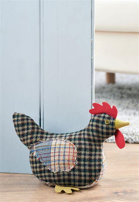 pattern fabric door stop tweed chicken doorstop free sewing patterns sew magazine