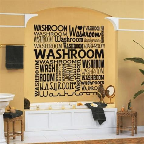 bathroom wall decals stickers 15 decorative and interesting bathroom wall stickers rilane