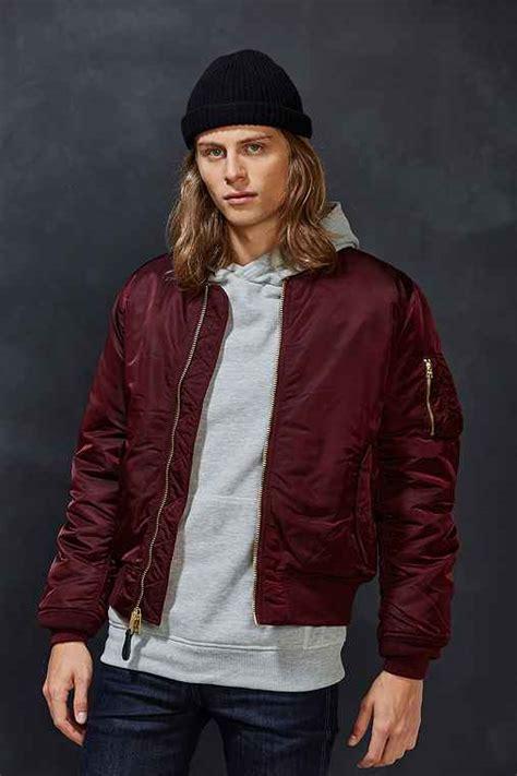 Jaket Bomber Jumbo Big Size L Xl Maroon alpha industries x uo slim fit ma1 bomber jacket