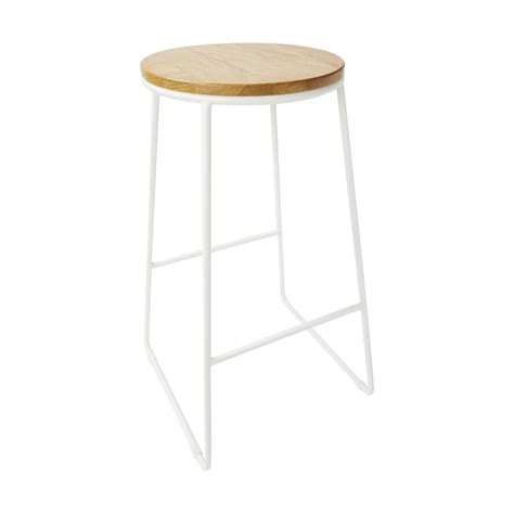 White Stool white industrial stool kmart