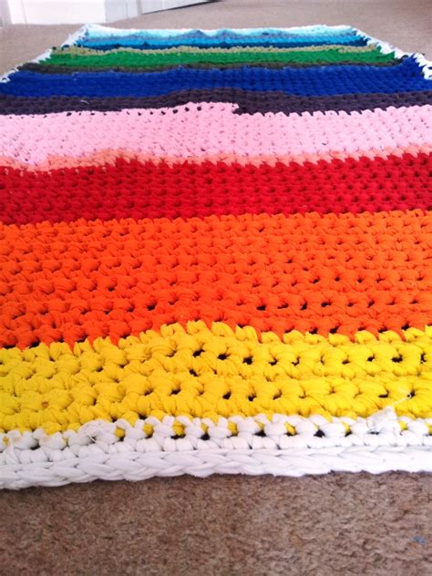rainbow rag rug crochet rainbow rag rug look at what i made
