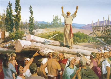 noah s building the ark noah s preaching scorned