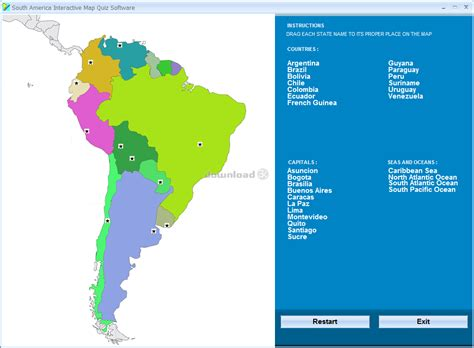 us states map quiz drag and drop south america interactive map quiz software 7 0