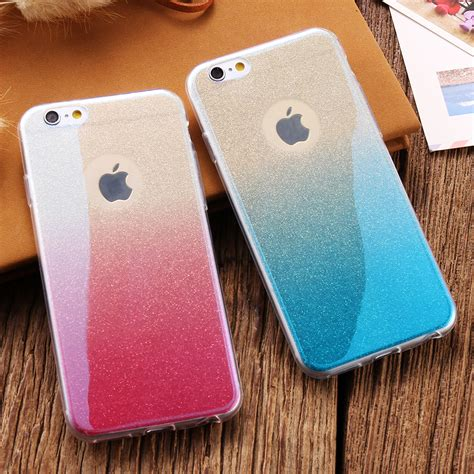 New Slim Silicone Iphone 6 6s Terseida Untuk Iphone 6 6s 6s 1 for apple iphone 6 6s 7 plus blue light gradient color for iphone 7 7 plus 6 6s plus