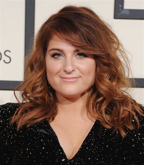 Meghan trainor new long medium shoulder length hairstyles pictures