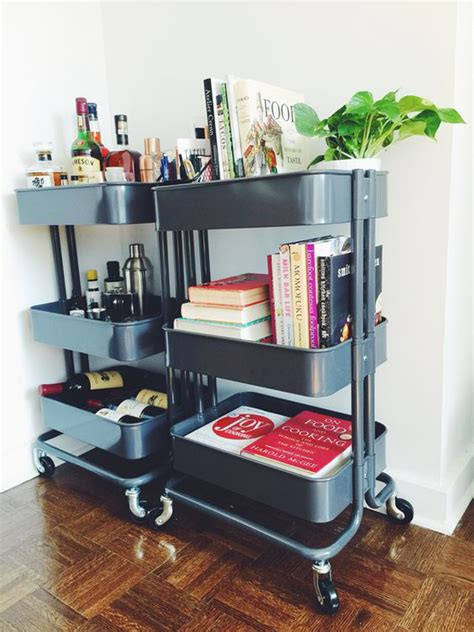 ikea cart raskog 8 clever ways to use ikea raskog cart for narrow space