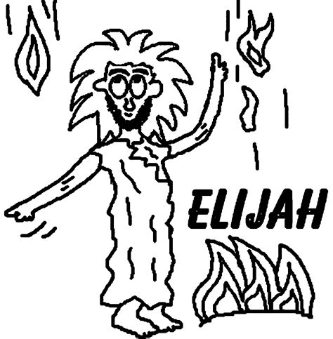 coloring page for elijah and the widow elijah and the widow coloring page