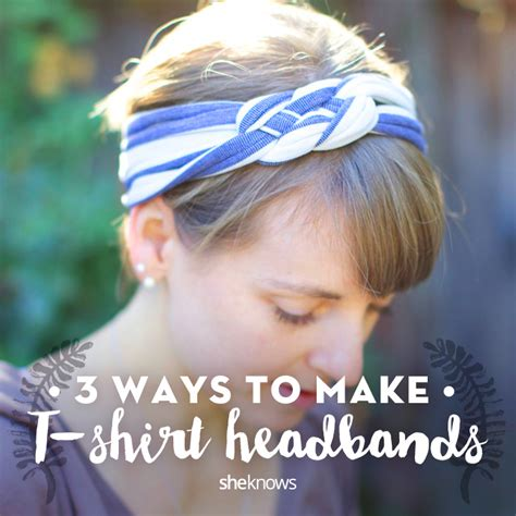 How To Make A T Shirt Out Of Paper - t shirt headbands tutorials