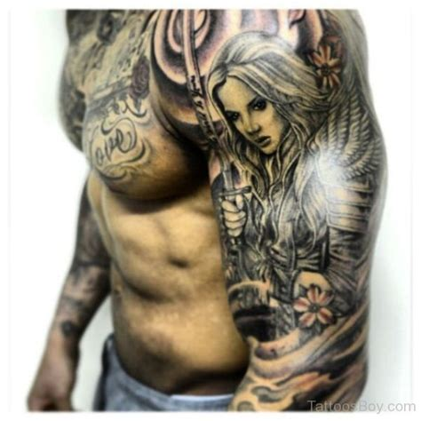 female angel tattoos for men guardian 3d www pixshark images