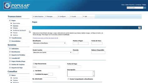 consulta de saldo banco popular banking pagos de tarjetas