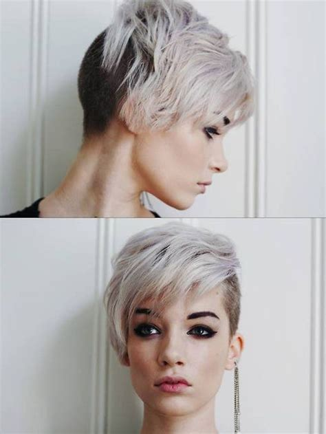 womens haircut with short sides side shaved short haircuts for women hair inspiration