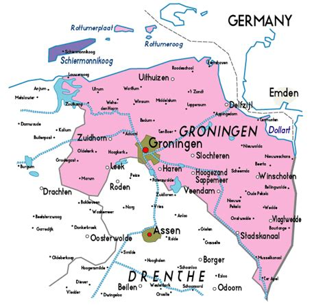 netherlands map groningen map of groningen in netherlands