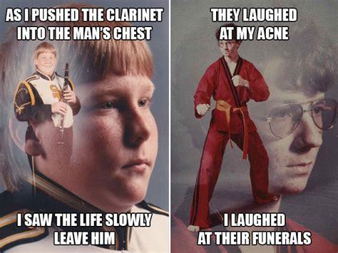 Clarinet Kid Meme - clarinet boy vs karate kyle