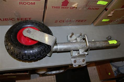 boat trailer jack with pneumatic tire swing up trailer jack with pneumatic tire kastner auctions