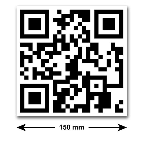 Aufkleber Qr Code by 2 X Qr Code Stickers For Car Shop Or Business