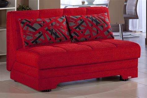 twist story red loveseat sleeper  istikbal furniture