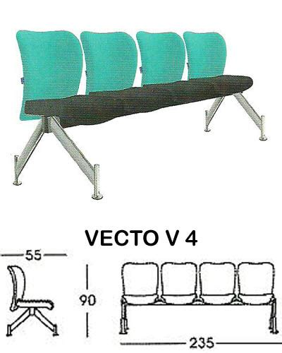 Kursi Tunggu Sofa kursi tunggu indachi vecto v4 sentra kantor surabaya